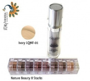 ITAY Beauty Mineral Flawless Liquid Foundation Ivory #LQMF-1 +8 Stacks Colour