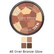 New York Colour Wheel Mosaic Face Powder, All Over Bronze Glow, 10ml