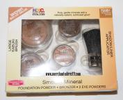 N.Y.C. Smooth Mineral Makeup Starter Kit - Foundation Powder, Bronzer. 2 Eye Powders, Large Kabuki Brush & Shadow Applicator Included, 755B1 Smimmering Bronze