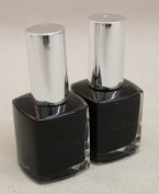 2 New Bari Pure Ice Fingernail Polish Black Rage 980-cp