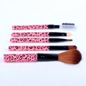 Cosmetic Brush Kit 5 Pcs Makeup Brush Travel Set Princessa - Pink