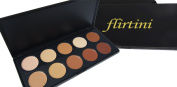 FLIRTINI 3D Look Cream Foundation and Camouflage Concealer 10 colour Versatile uses for Cheeks,Lips,and Eyes. Cream Nature, Matte