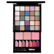 NYX Be Fierce 35 Colours Makeup Kit Palette with Eye Shadows, Blushers, Lip Glosses S124