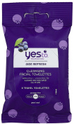 Yes To Inc Yes to Blueberries Brightening Facial Towelettes -- 8 Travel Towelettes