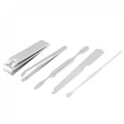 13cm 1 Metal Nail File Ear Cleaner Tweezers Flat Stick Set