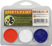 Sports Makeup Kit White, Dark Orange, Royal Blue