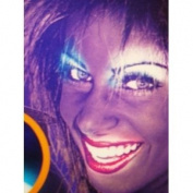 Black Light Reactive Neon Makeup with Black Light Pendant