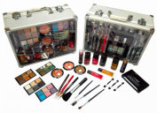 Shany Cosmetics Carry All Trunk Makeup Kit with Reusable Aluminium Case Exclusive Holiday Gift Set