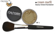 """ITAY Beauty 100% Natural Mineral 9gr Colour - MF2.5cm Cream Marfil"""" Foundation + * * Application Brush"""