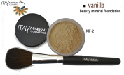 "ITAY Beauty 100% Natural Mineral 9gr Colour - MF5.1cm Vanilla"" Foundation + * * Application Brush"