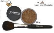"ITAY Beauty 100% Natural Mineral 9gr Colour - MF7.6cm Cafe"" Foundation + * * Application Brush"