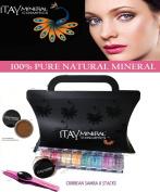 "Itay Beauty 8 Stack ""Caribbean Samba"" Eye Shadow Shimmer+ Trend Purple G3 LED Stainless Steel Tweezers+ Sample Size Mineral Itay Foundation MF-9 Taramisu"
