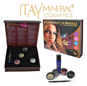 "4 Spakel Glitters +Itay Liquide Sparkel Bond "" Shine Bright'n Sparkle"" Diamond Set Cosmetics Gliiters for Eyes, Lips and Face"