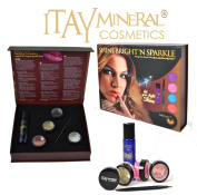 ITAY Mineral Cosmetics Shine Bright'N Sparkle Pearl Set Makeup Gift Box for Eyes, Lips and Face