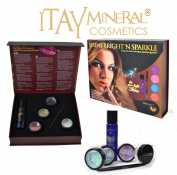 ITAY Mineral Cosmetics Shine Bright'N Sparkle Topaz Set Makeup Gift Box for Eyes, Lips and Face