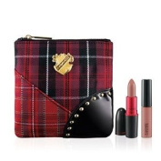 MAC A Tartan Tale - Tis Noble to Give Viva Glam V Lip Bag - 1 Viva Glam V Lustre Lipstick, 1 Viva Glam V Lipglass, 1 MAC Plaid Makeup Bag