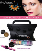 "Itay Beauty 8 Stack ""Caribbean Samba"" Eye Shadow Shimmer+ Trend Purple G3 LED Stainless Steel Tweezers+ Sample Size Mineral Itay Foundation MF-5 Dulce De Leche"