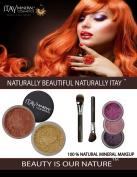 ITAY Mineral Luxury Kit Tan SPF15 Foundation MF4+ Blush Mb6 + 3 Eye Shimmers + Moisturiser + 2 Cala Brushes
