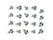 Black Butterfly Jewelled Nail Stickers/Decals