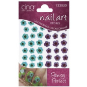 CinaPro 3-D Nail Decals Pansy Perfect