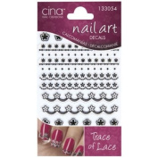 CinaPro 3-D Nail Decals Trace of Lace