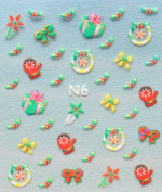 YIMEI 2012 Merry christmas holiday Gloves bow gift nail decals stickers