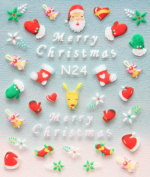 GGSELL YIMEI 2012 Merry christmas holiday Gloves, socks and Christmas hats bells and flowers nail decals stickers