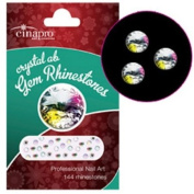 CinaPro Nail Creations Crystal AB Gem Rhineststones 144-ct.