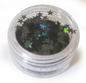 Moyou Nail Art acrylic nails Star shaped Glitters- Black colour