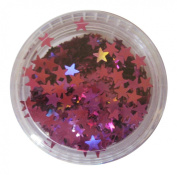 Moyou Nail Art acrylic nails Star shaped Glitters- Purple colour
