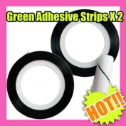 2 Green Nail Art Strip Striping Tape Tool Design 077