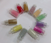 350buy 12 Spring Colours Attractive Lady Bottle with Beautiful Silver Plastic Bead Nail Art Accessories