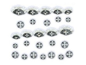 Black & White Cross Lace w/ Rhinestone French Tip Nail Stickers/Decals