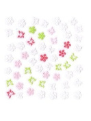 White/Pink/Green Butterfly & Flower Nail Stickers/Decals