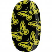 Donna Bella Butterflies, Yellow Nail Wrap, 30ml