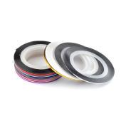 28 Colour Nail Art Stripe Striping Tape Line DIY Decoration Design Sticker Rolls Tool