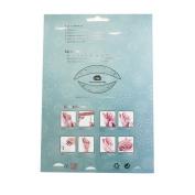 Fiercehorn Fancy Dress Ball Eyeshadow Lip Nail Sticker Temporary Tattoo Transfer Kit Set Silver