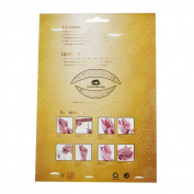 Fiercehorn Fancy Dress Ball Eyeshadow Lip Nail Sticker Temporary Tattoo Transfer Kit Set Yellow