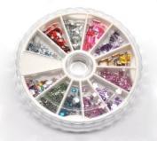 Mixed Wheel Nail Art Acrylic Rhinestone Decoration