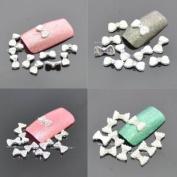 "10mm ""Ribbon Bow"" 3D DIY Alloy Decoration x 10pcs CODE"