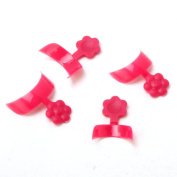 Yesurprise 500 pcs French Half Nail Art False Tips Acrylic DIY Decorations Rose