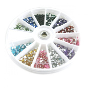 Rhinestones 2400 Piece 12 Colour Nail Art Nailart Manicure Wheels