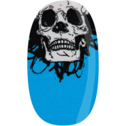Donna Bella Skully Wag Blue, White and Black Nail Wrap, 30ml