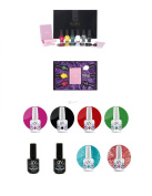 Konad Nail Art Set Classic Collection II + UV Nails Soak-In Gel Nail Polish, UV Base, and UV Top Coat