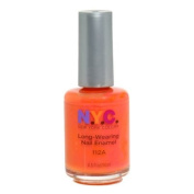 New York Colour Long Wearing Nail Enamel, Times Square Tangerine Creme, 0.45 Fluid Ounce
