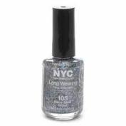New York Colour Long Wearing Nail Enamel, Starry Silver Glitter, 0.45 Fluid Ounce