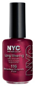 New York Colour Long Wearing Nail Enamel, Broadway Burgundy Frost+H18, 0.45 Fluid Ounce