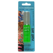 ColorMates Nail Art Nail Polish, Neon Green, 5ml