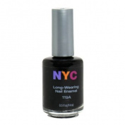 New York Colour Long Wearing Nail Enamel, Black Lace Creme, 0.45 Fluid Ounce