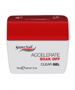 Supernail Accelerate Clear Nail Gel, 0.5 Fluid Ounce